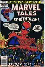 Marvel Tales #91 ORIGINAL Vintage 1978 Spider-Man Cops Out - $9.49