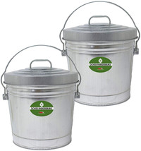Dover Parkersburg DP6106-2 Steel Can, 6 gallon, Silver, (2-Pack) - $58.95
