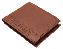 Tommy Hilfiger Men's Leather RFID Fixed Passcase Wallet Billfold 31TL220084 image 7
