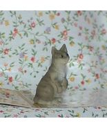Dollhouse Pet Cat Heidi Ott HOXZ564 GR grey sitting on haunches NRFB 1:12 - $9.00