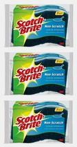 3pk~ Scotch-Brite Non-Scratch SCRUB SPONGES 3ea. Multi-Purpose Reusable ... - $16.99
