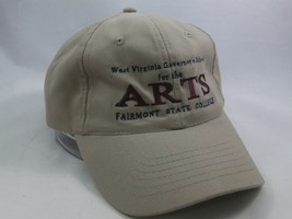 West Virginia School For The Arts Justin Hat Beige Strapback Baseball Cap - $14.89