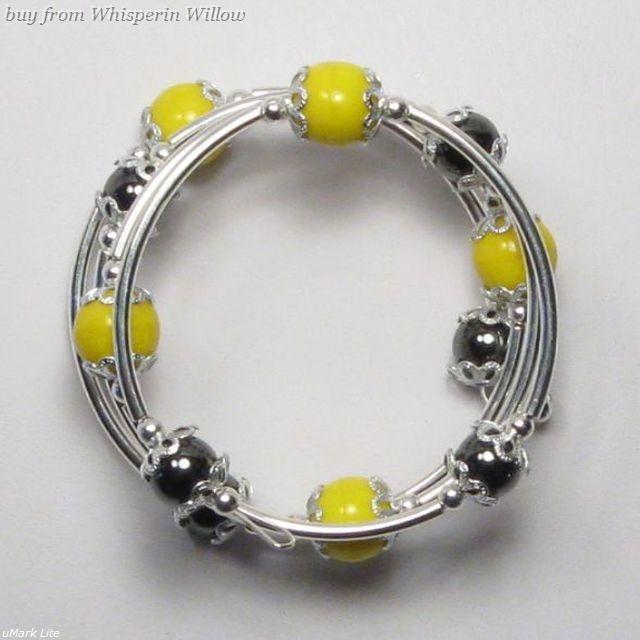 Primary image for 3 tier Silver Steelers Fashion Bracelet