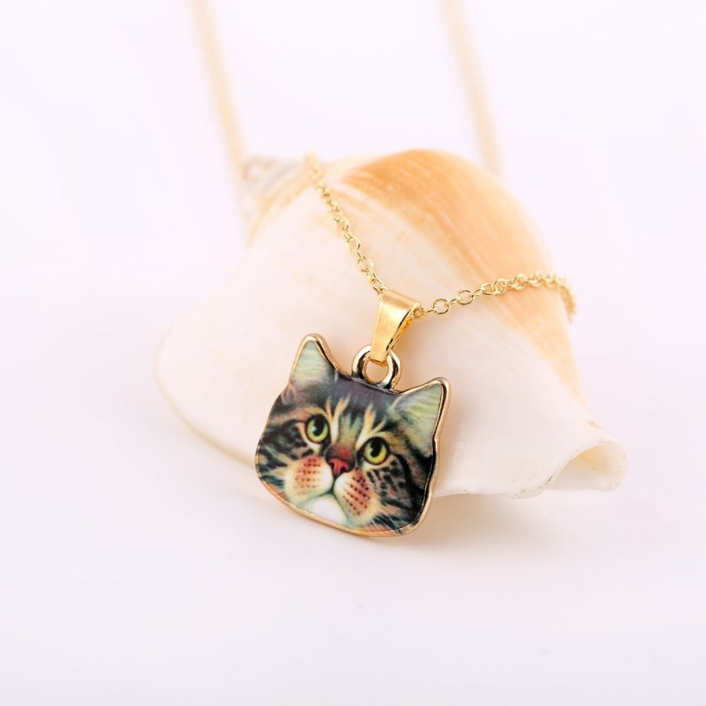Retro Hot Designed Cute Animal Jewelry Big Eyes Black Cat