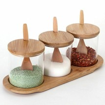 Castor Spice Bottle Glass Seasoning Salt Shaker Kitchen Storage Containe... - £30.94 GBP