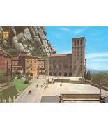 Spain Montserrat facade and Sanctuary Square Postcard - $2.49