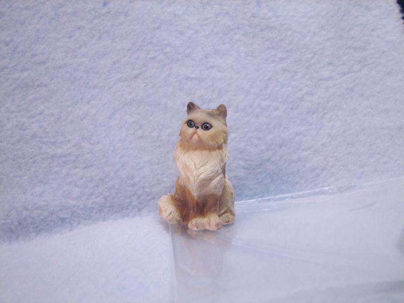 Heidi ott persian cat tan gemjanes dollhouse miniatures 4