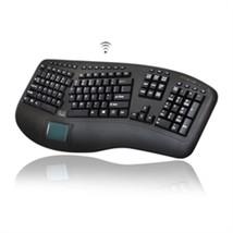 Adesso Keyboard WKB-4500UB Wireless Tru-Form Ergo Touchpad Keyboard Retail - $2.020,76 MXN