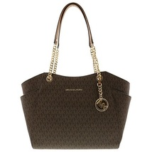 $378 NWT Michael Kors Brown Jet Set Travel Large Chain Tote - $100.00