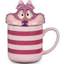 Disney Store CHESHIRE CAT Peek A Boo Mug With Lid Alice In Wonderland 12oz - $26.41