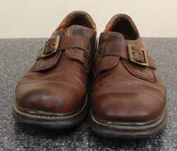Johnston & Murphy Passport Brown Leather Buckle Loafers Mens 9 1/2 M Sho... - $30.00