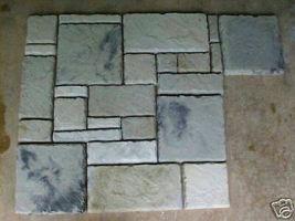 29 CONCRETE USA MOLDS MAKE 1000s OF CASTLE PAVERS, TILE, STONES MAKE FOR PENNIES image 3