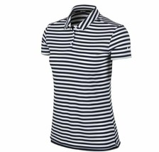 New Nike Polo Golf Shirt Blue White Striped 884867-416 Women's NWT Size ... - $29.99