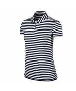 New Nike Polo Golf Shirt Blue White Striped 884867-416 Women's NWT Size ... - $29.99