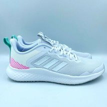 New Womens Adidas Fluidstreet Cloud White Running Shoes Sneakers Size 9.5 FY8465 - $78.84