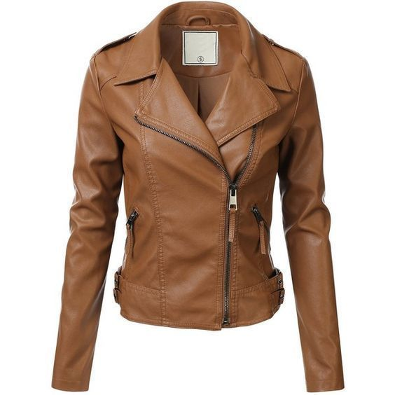 WOMEN BIKER MOTORCYCLE CASUAL SLIM FIT RIDER REAL GENUINE  LEATHER JACKET-A15