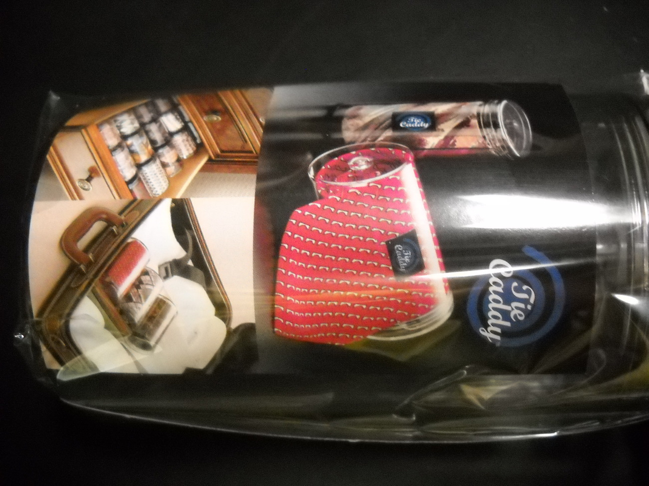 tie caddy by new way to store ties transparent