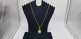 Vintage Sorna 17 Jewels Gold Tone Chianti Wine Watch Pendant With Chain EUC - $38.72