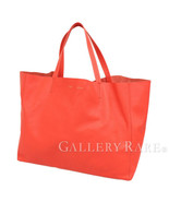 CELINE Horizontal Cabas Leather Red 166113 Tote Bag Italy Authentic 5380787 - $646.53