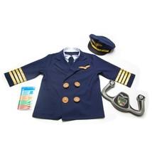 Melissa & Doug Pilot Role Play Costume 6 Piece Dress-Up Set Ages 3-6yrs - $25.24