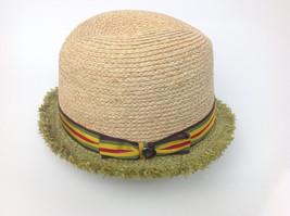 $98 Raffaello Bettini Bloomingdales Straw Hat Natural Green Size Medium ... - $48.51
