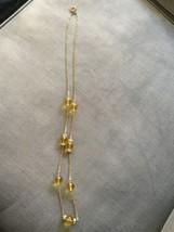 J. CREW SINGLE STRAND GOLD TONE YELLOW CRYSTAL ... - $12.19