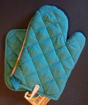 OWL KITCHEN SET 4pc Oven Mitt Potholder Dishcloths Turquoise Pink Bird NEW image 4