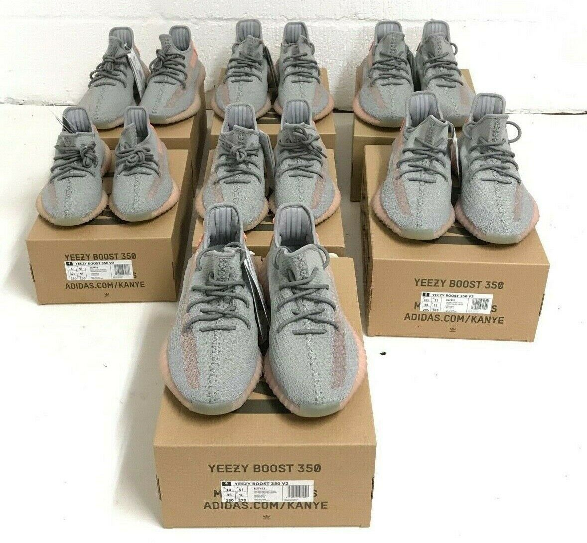 Adidas Yeezy Boost 350 V2  Grey TRFM EG7492 Sizes 3 4.5 5 5.5 6 static 3m 700 image 8