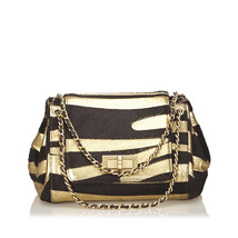 Pre-Loved Chanel Black Zebra Print Pony Hair Reissue Flap Bag France - $1,322.11