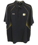 Notre Dame Fighting Irish Under Armour NCAA Loose Heat Gear Polo Shirt LARGE - $22.77