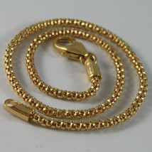18K YELLOW GOLD BRACELET, BASKET ROUND MESH, 7.50 INCHES LONG, MADE IN ITALY image 2