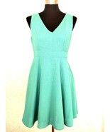 Modcloth Minuet Retro Dress L Mint Green Bow Open Back Flare Skirt Fit F... - £42.74 GBP