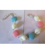 Colorful Faux Coral Look Seashell Bracelet, Girls & Ladies Sizes, Beach ... - $8.99+