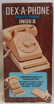 Vintage Dex-A-Phone Number Index Directory Push Button Automatic Page Telephone