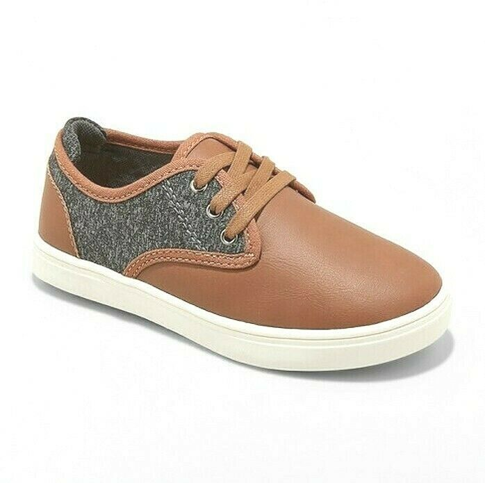 Cat & Jack Big Boys' Brown Tan Kolton Casual Shoes Sneakers 4US NEW