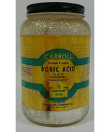 Vintage Carroll Boric Acid Glass Bottle - $14.22