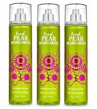 Bath & Body Works Iced Pear Margarita Fine Fragrance Mist 8 oz x3 - $29.99