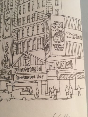 Welling / Hand Signed Numbered 300 Of 500 Lithograph 1983 / Time Square NY