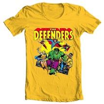 The Defenders T Shirt vintage retro Marvel comics Valkyrie Nighthawk gold tee image 2