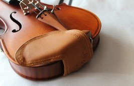 Violin Chinrest Cover Genuine Leather Chin Shoulder Support Rest Compatible - $20.81