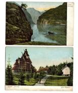 2 Vintage NORWAY Postcards - SOGN & BYGDO - $9.00