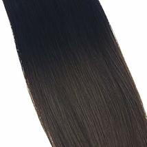 VeSunny 12inch Clip in Hair Extensions Ombre Remy Human Hair Natural Black Fadin image 3
