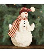 Standing Snowman Figurine Ornament Paper Pulp Sculpture Christmas Collec... - ₹377.50 INR