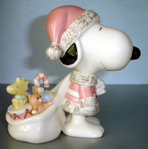 Lenox Peanuts Snoopy Claus Figurine Carrying To... - $59.90