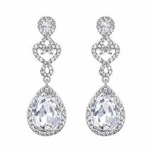 BriLove Women's Wedding Bridal Open Love Heart Teardrop Chandelier Dangl... - $22.02