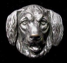 Vintage Golden Retriever Silver Plated Dog Pin Brooch NICE1 - $9.50