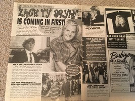 Zachery Ty Bryan teen magazine pinup clipping is coming in First Brock P... - $2.00