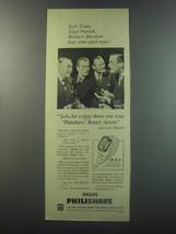 1955 Philips Philishave Ad - Jack Train, Nigel Patrick, Richard Murdoch - $14.99
