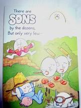 Vintage Son Egg Birthday Card Ambassador Cards 1970s - $2.99