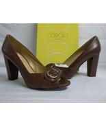 Circa Joan & David  8.5 M Found It Wine Leather Open Toe Heels New Women... - $46.73